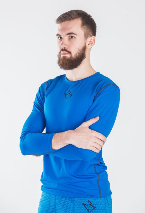 Компрессионный лонгслив Baller Basic BLUE