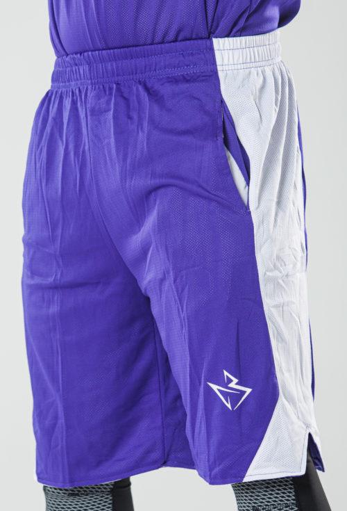 Шорты двухсторонние CLSSK. Purple/White